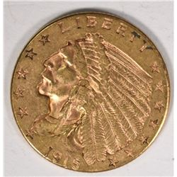 1915 $2.50 INDIAN GOLD
