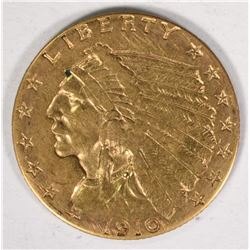 1910 $2.50 INDIAN GOLD