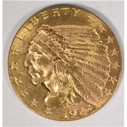 1927 $2.50 INDIAN GOLD