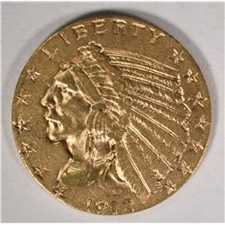1912-S $5 INDIAN GOLD