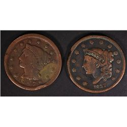 1837 & 1847 LARGE CENTS VG