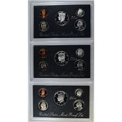 1993, 97 & 98 SILVER PROOF SETS ORIG PACKAGING