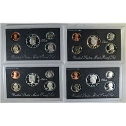 3-1992 & 1-93 SILVER PROOF SETS ORIG PACKAGING