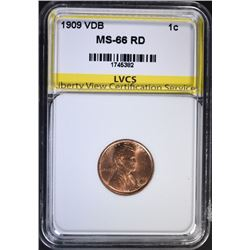 1909 VDB LINCOLN CENT LVCS SUPERB GEM
