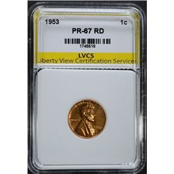 1953 LINCOLN CENT, LVCS, SUPERB GEM BU RD