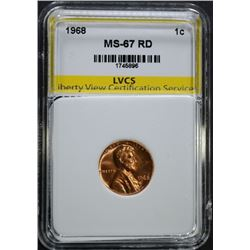 1968 LINCOLN CENT, LVCS SUPERB GEM BU RED