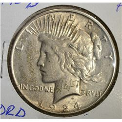 "1924-S REMEMBRANCE PEACE DOLLAR ""DRD 6/6/51"""