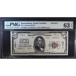 1929 $5 TY2 NATIONAL CURRENCY PMG 63 EPQ