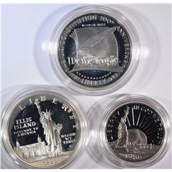 2 COMMEMORATIVE SETS: 1896 2PC STATUE OF LIBERTY &