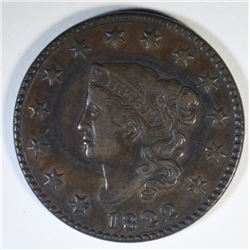 1822 LARGE CENT  XF+