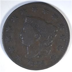 1823/2 LARGE CENT  CHOICE VG/F
