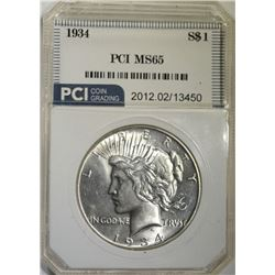 1934 PEACE DOLLAR PCI GEM BU