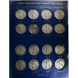 1916 - 1940 COMPLETE WALKING LIBERTY