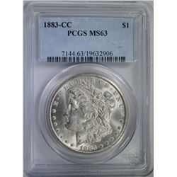 1883-CC MORGAN DOLLAR PCGS MS63