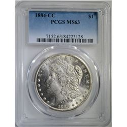 1884-CC MORGAN DOLLAR PCGS MS63