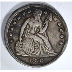 1870 SEATED DOLLAR VF