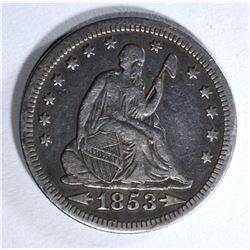 1853 RAYS / ARROWS SEATED QTR