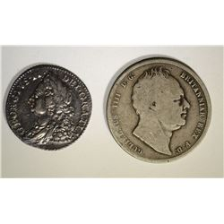 1758 SHILLING MID/HIGH GRADE 1836 ½ CROWN