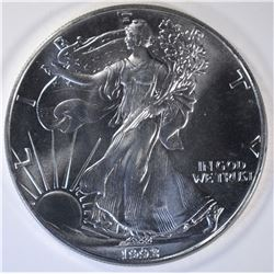 GEM BU 1992 AMERICAN SILVER EAGLE BETTER DATE!