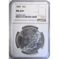 1887 MORGAN DOLLAR NGC MS64+