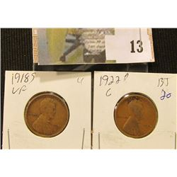 1918 S VF & 22 D Good Lincoln Cents.