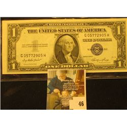Series 1935E U.S. One Dollar Silver Certificate. Uncirculated.