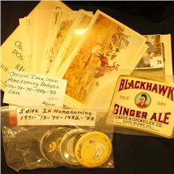 (16) different 1952 copyright  Cowboy Charles Russell Post Cards ; Blackhawk Ginger Ale bottle label
