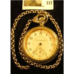 Illinois Watch Co. 17 jewels pocket watch, serial # 1536395, Grade 61, estimated manufacture date 19