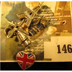 Let's take a trip! 4 925 travel related charms, (2) windmills (blades rotate), British flag on a hea
