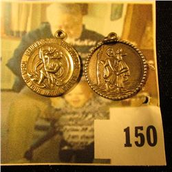 (2) sterling Saint Christopher disc style charms – 7.1 g / 4.6 dwt