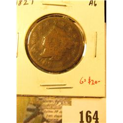 1827 Large Cent, AG, G value $20