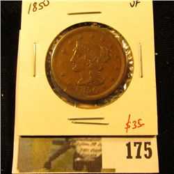 1850 Large Cent, VF, value $35