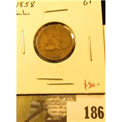 1858 Flying Eagle Cent, Large Letters, G, value $30