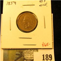 1859 Indian Head Cent, VF+, nice and sharp! Value $65