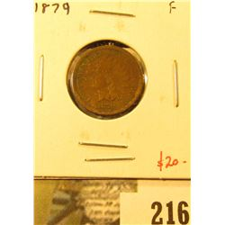 1879 Indian Cent, F, value $20