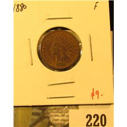 1880 Indian Cent, F, value $9