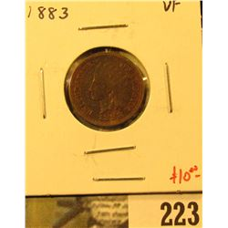 1883 Indian Cent, VF, value $10