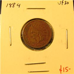 1884 Indian Cent, VF30, value $15