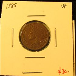 1885 Indian Cent, VF, value $30