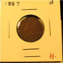 1887 Indian Cent, VF, value $8