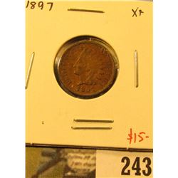 1897 Indian Cent, XF, value $15