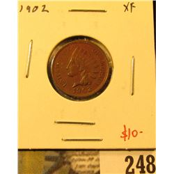 1902 Indian Cent, XF, value $10