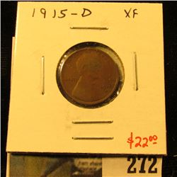 1915-D Lincoln Cent, XF, value $22