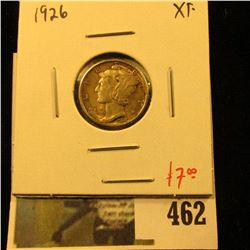 1926 Mercury Dime, XF, value $7