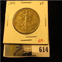 1941 Walking Liberty Half Dollar, XF, value $19