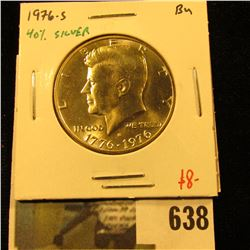 1976-S Kennedy Half Dollar, 40% Silver, from Mint Sets only, BU, value $8