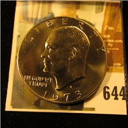1973-D Eisenhower Dollar, BU from Mint Set, value $13 to $50