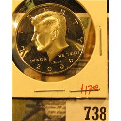 2000-S Silver PROOF Kennedy Half Dollar, value $17