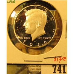 2016-S Silver PROOF Kennedy Half Dollar, value $17
