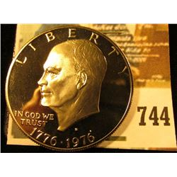 1976-S Type 2 PROOF Eisenhower Dollar, value $8
